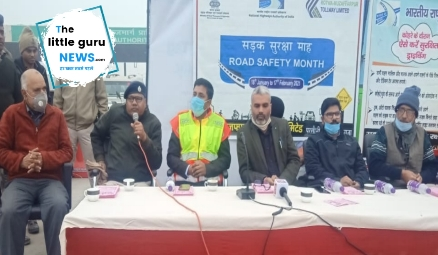 Road Safety Month Program organized at Chakia Toll Plaza