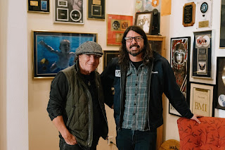 Dave Grohl and Brian Johnson