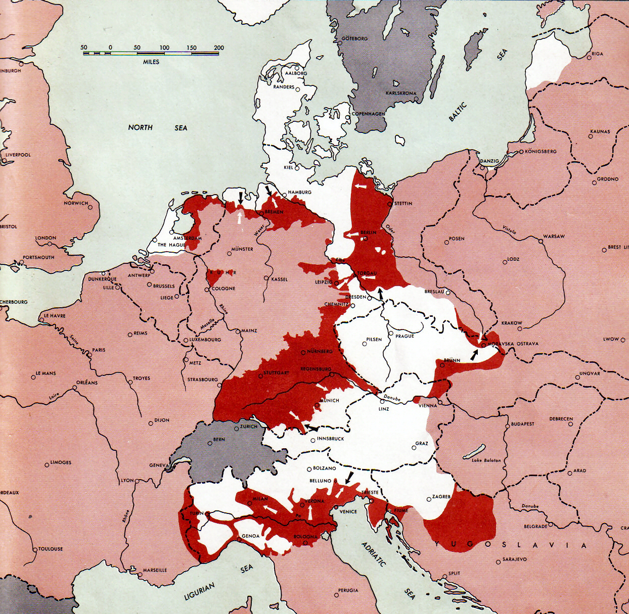 Territories held by Germany