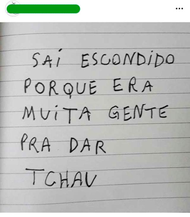 SAINDO DE FININHO