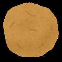 じゃがいもの切り方のイラスト(黄色・まるごと皮あり)