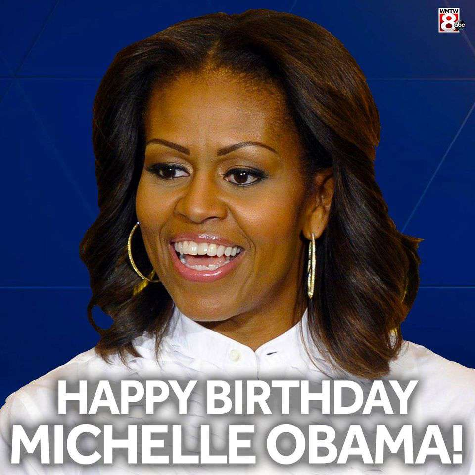Michelle Obama's Birthday Wishes Awesome Picture