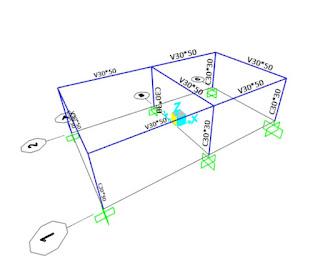 estructura de concreto SAP2000