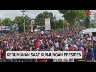 Kerumunan Saat Kunjungan Presiden Jokowi Ke Nusa Tenggara Timur