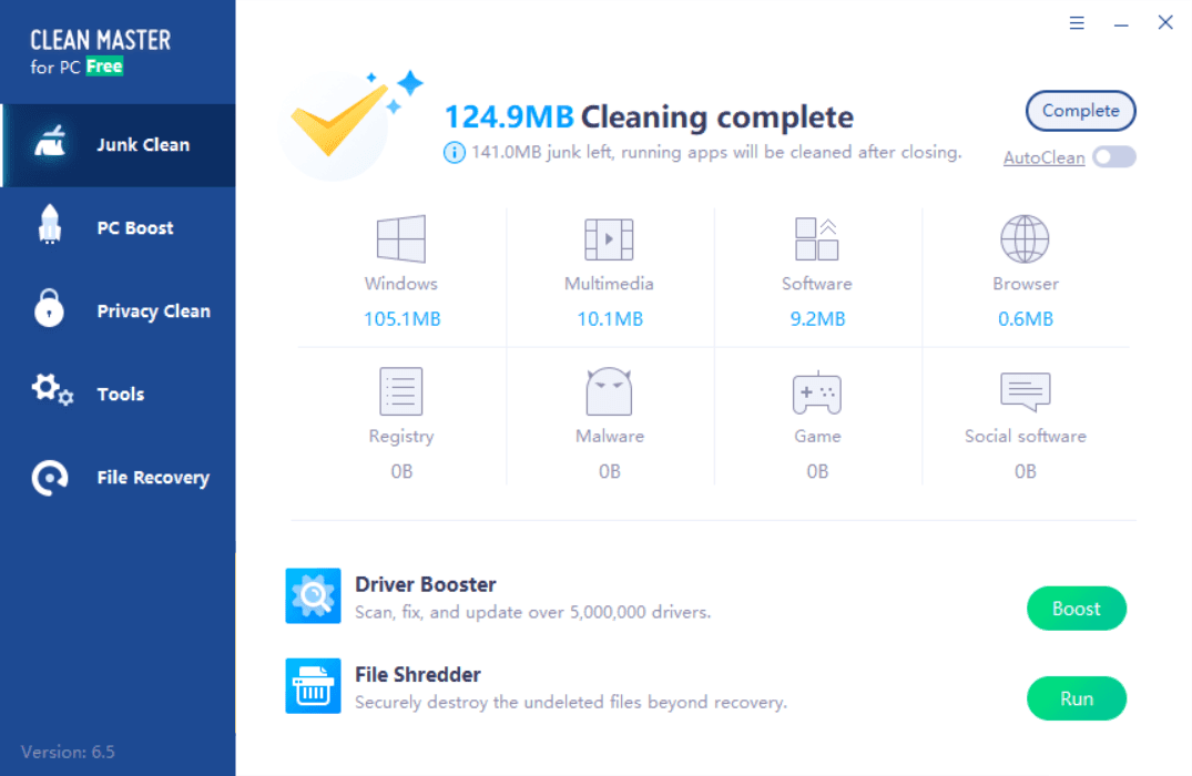 Clean Master for PC Cleaning Complete Screenshot