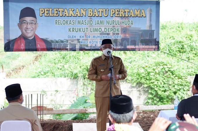 Walikota Letakkan Batu Pertama Pembangunan  Masjid di Krukut