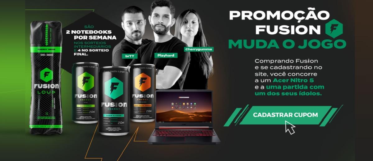 Participar Promoção Muda o Jogo Fusion Energy 2020 - 20 Notebooks Acer Nitro 5 e Partida Ídolos