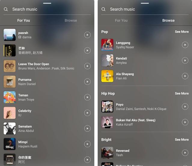 Insta Music Kini Boleh Digunakan Pada iOS dan Android