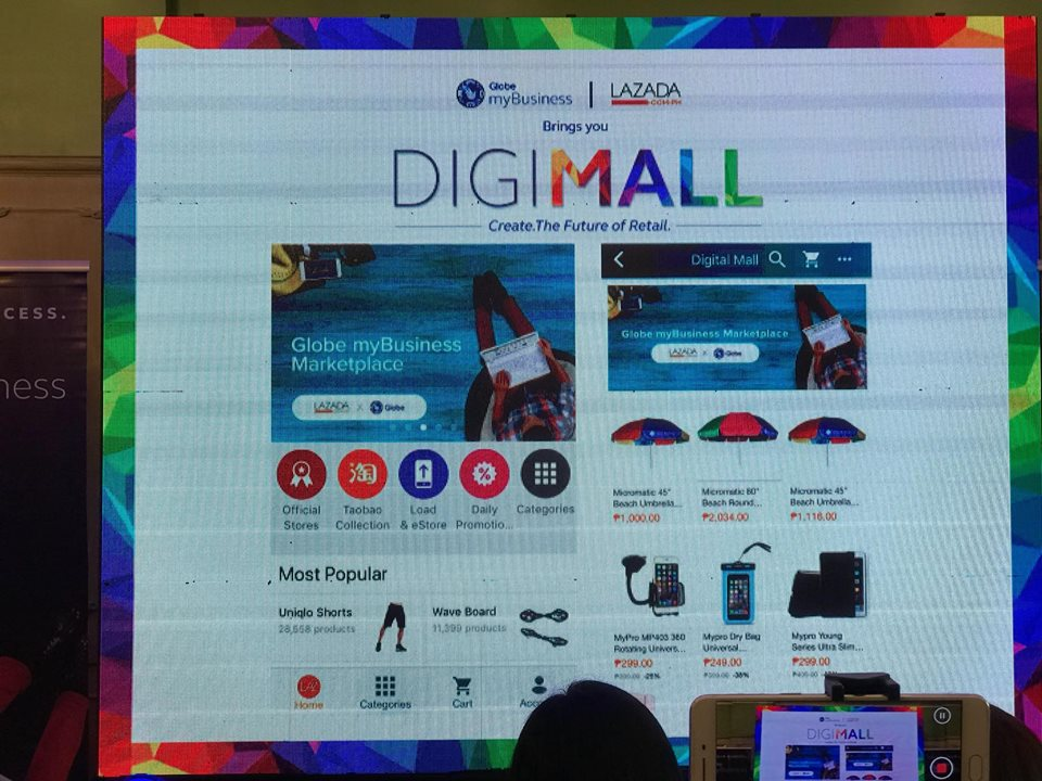 globe mybusiness and lazada introduced digimall which served as a re
