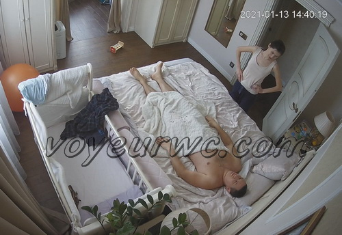 Hack in home security camera caught married couple fuck (Home Sex IP Cam)