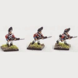 AWB6 British Grenadiers, 1768 warrant, charging.