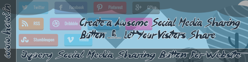 Jquery Social Media Share Button For Websites