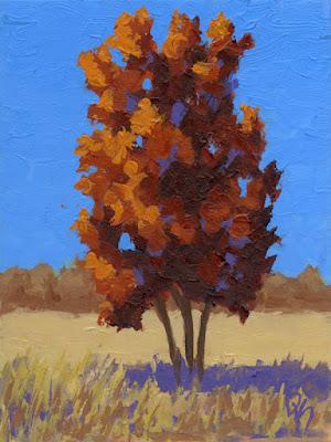 art acrylic painting landscape autumn nature