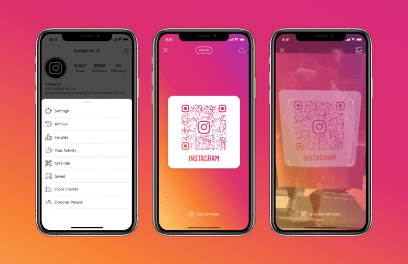 Instagram is now allowing users scan QR codes to visit profiles