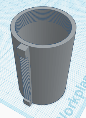Celestron First Scope focuser tube from TinkerCAD