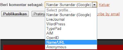 Komentar Name/URL Pada Blog