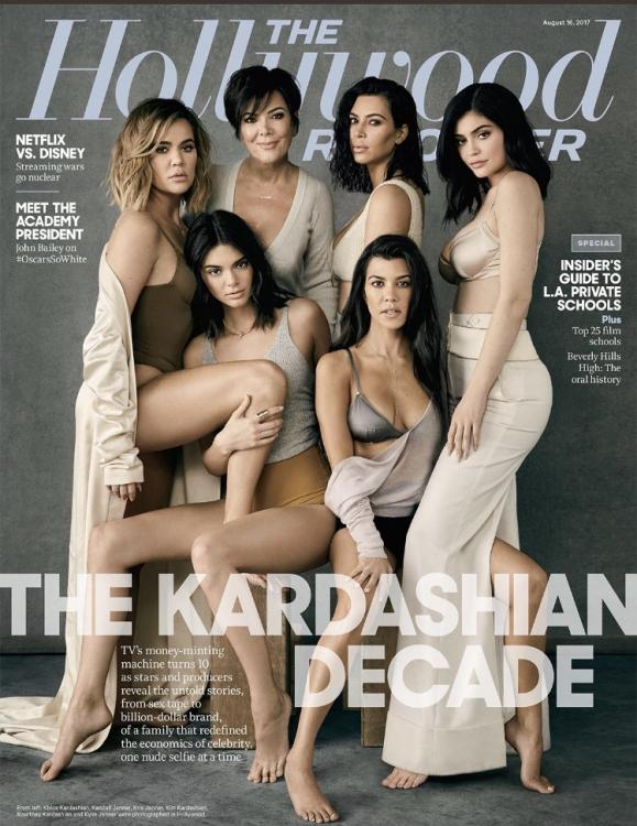 Kardashian-Jenner sisters slay on the cover of The Hollywood Reporter August 2017