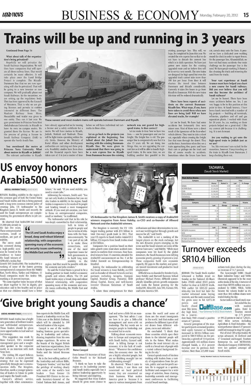 Notes From Saudi Arabia February