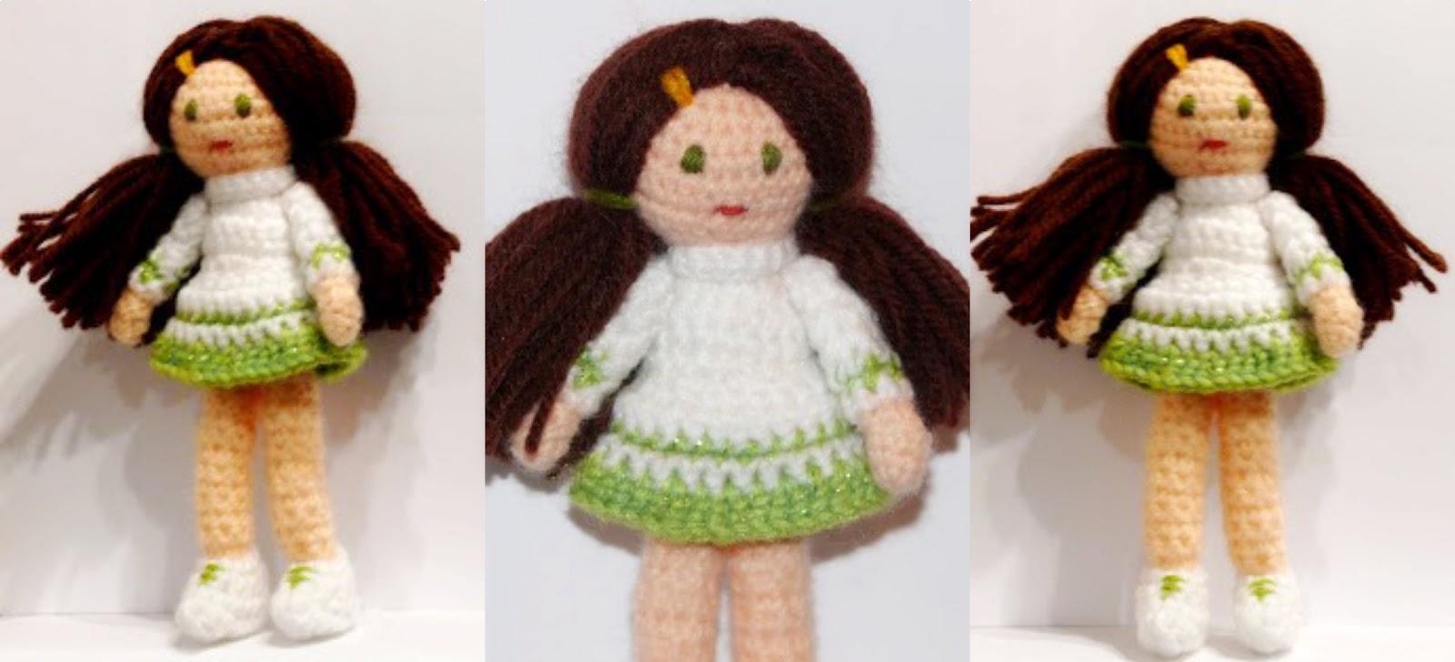 amigurumi doll , plush, anekka handmade