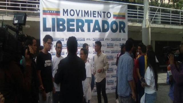 Movimiento Libertador defenderá e impulsará el plebiscito del 16 de julio