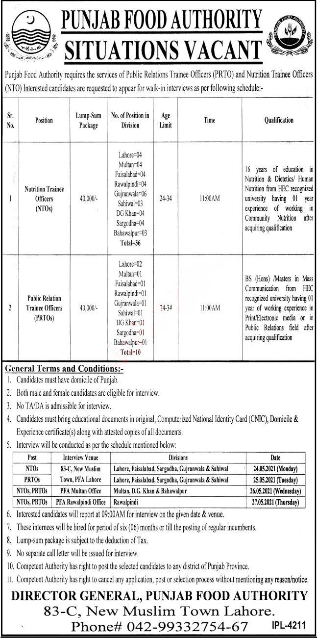 Punjab Food Authority New Jobs | Apply Now | www.merenukkri.com