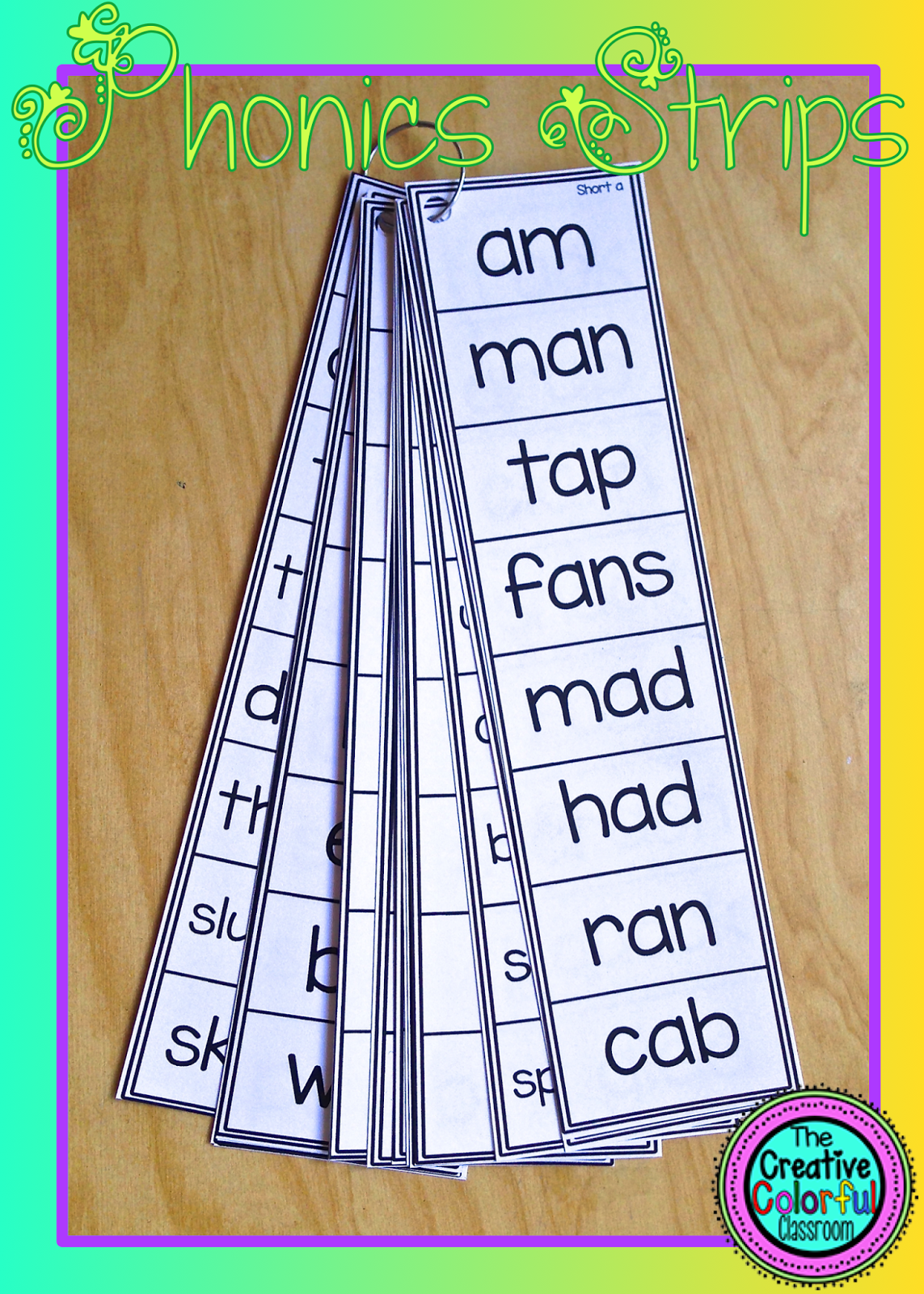 The Creative Colorful Classroom Phonics Strips