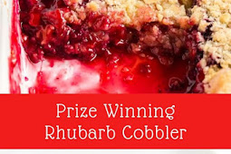 Prize Winning Rhubarb Cobbler