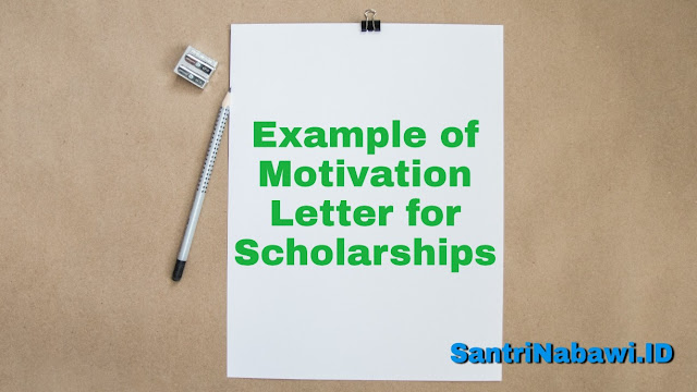 Example of Motivation Letter for Australia Awards Scholarships (AAS)