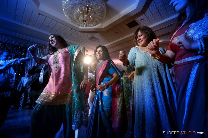 Indian Wedding Sangeet Photography South Asian Hindu Wedding Dancing at Eagle Crest Marriott by SudeepStudio.com Ann Arbor Indian Wedding Photographer