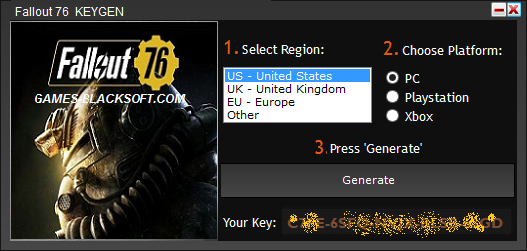 geims: Fallout 76 Serial Key CD Key Keygen - Crack