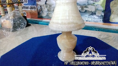 Jual Kap Lampu Onyx, Kap Lampu Onyx Bentuk Telur, Kap Lampu Hias Berdiri