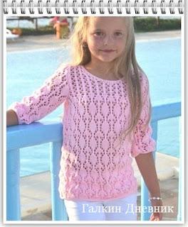 pulover-spicami-dlya-devochki | πλέξιμο | ქსოვა