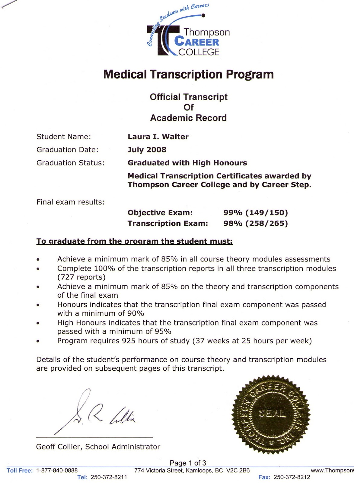 Transcriptionist Resume Medical Transcription Resumes Exles  Medical Transcriptionist Resume