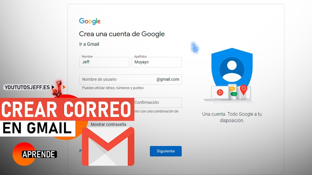 Como Crear Un Correo Gmail