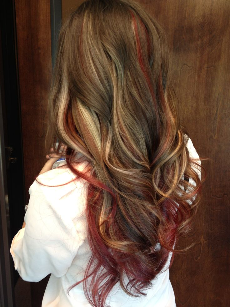 27 Trendy Red Highlights For Your Hair | Hairstylo