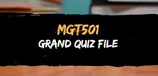 MGT501 GRAND QUIZ FILE FOR MIDTERM