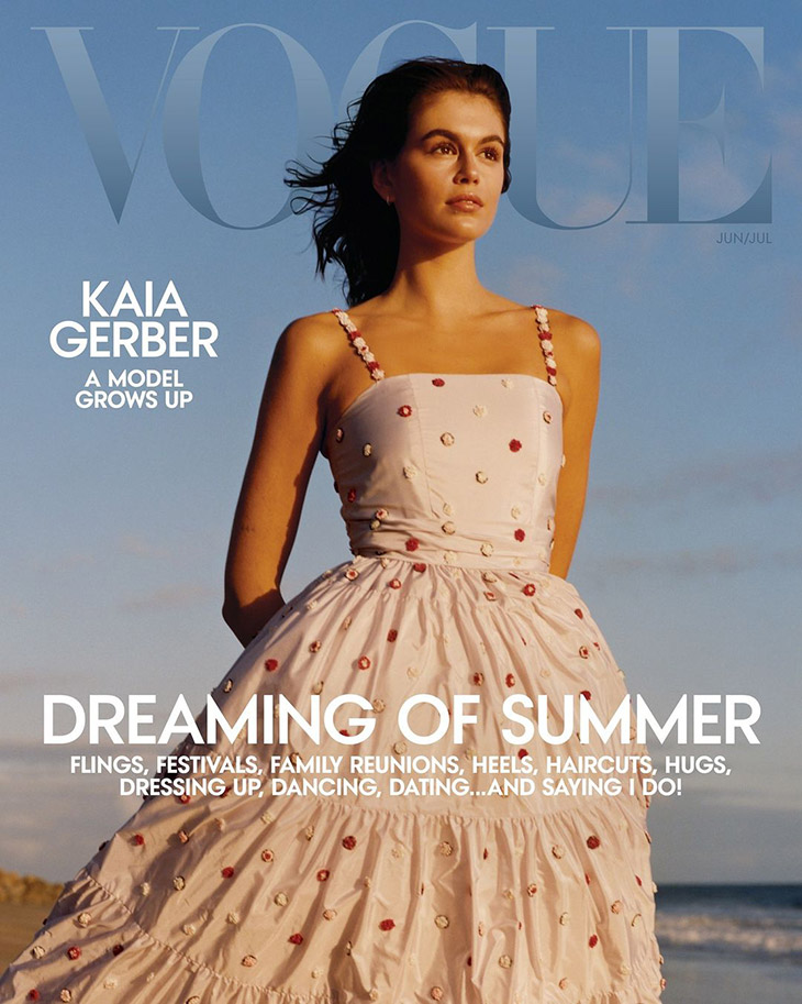 Kaia Gerber is the Cover Girl of American Vogue June July 2021 Issue