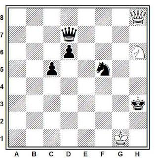 Estudio artístico de ajedrez compuesto por Paul Heuäcker (1º Premio, Schach-Echo 1964)
