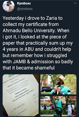 Graduate who wrote JAMB eight times before gaining admission shares his success story