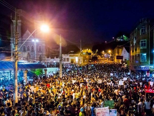Manifestação em Maceió-AL,17 de junho de 2013.