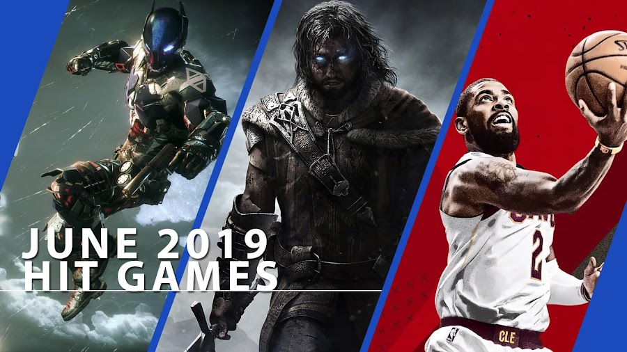 playstation now batman arkham knight middle earth shadow of mordor nba 2k18 hit ps4 games june 2019
