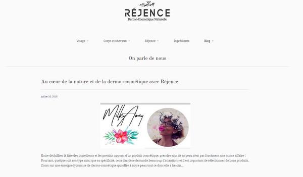 Article Réjence Dermo-cosmétique Naturelle