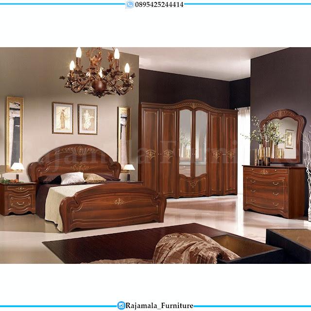 Tempat Tidur Minimalis Jati Classic Natural Furniture Jepara RM-0290