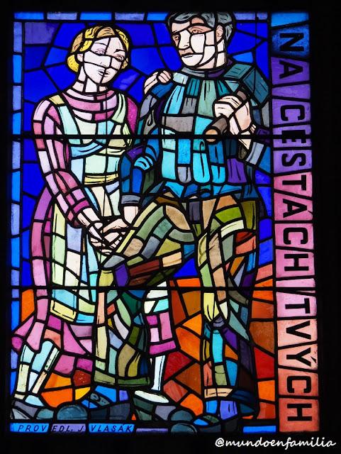 Vitral de la Catedral de San Vito