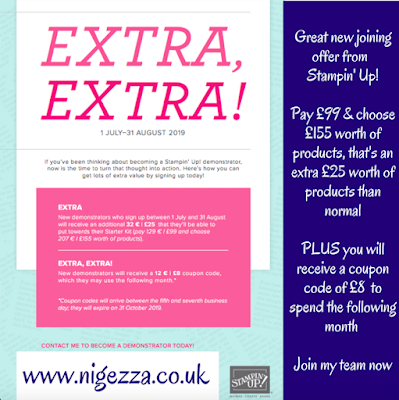 Nigezza Creates, Stampin' Up! Joining offer