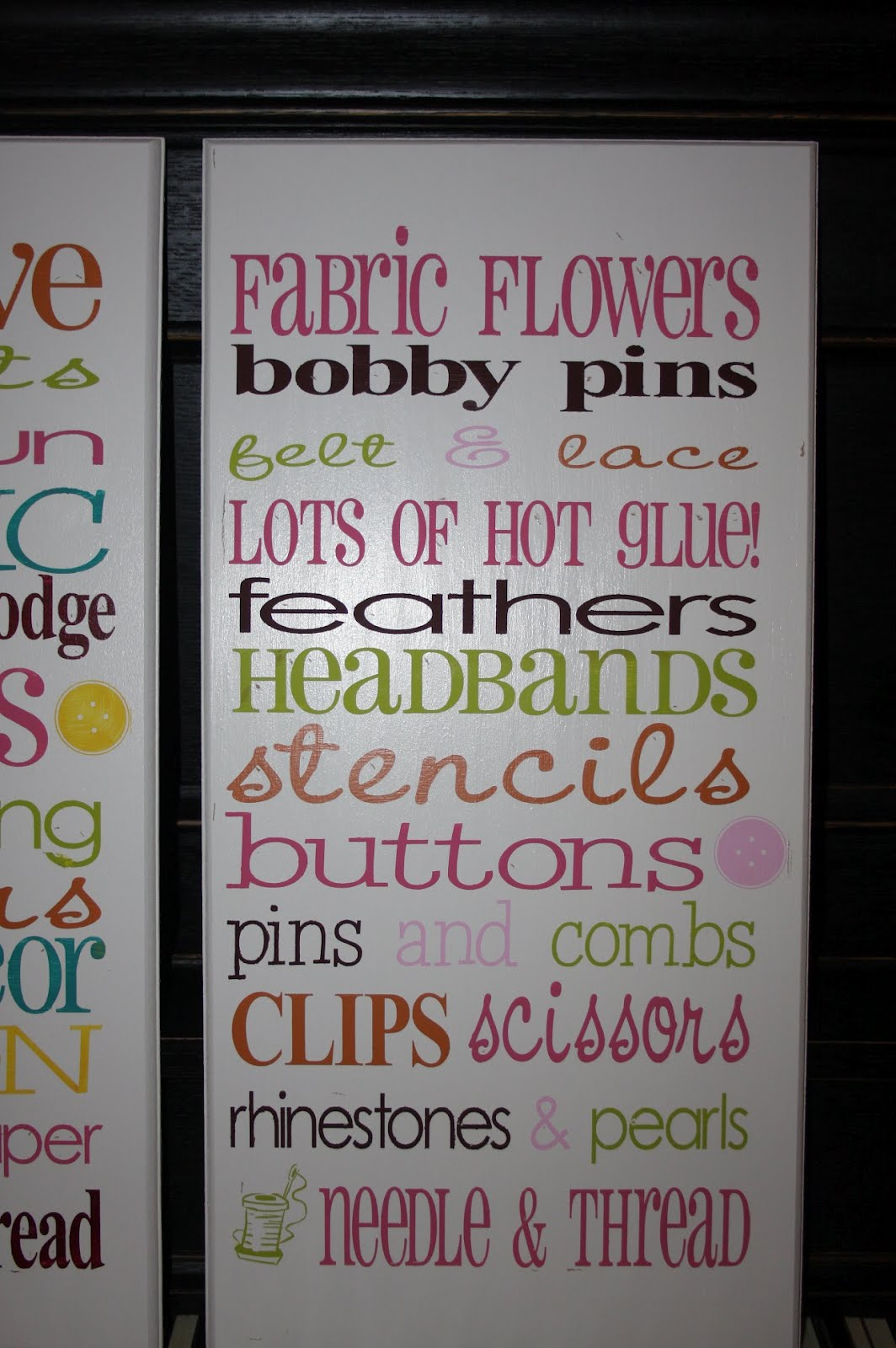 Lanier Household Creations Craft Room Signs