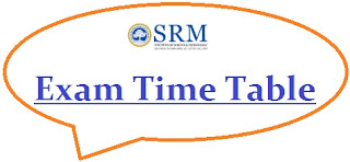 SRM University Exam Date Sheet 2020