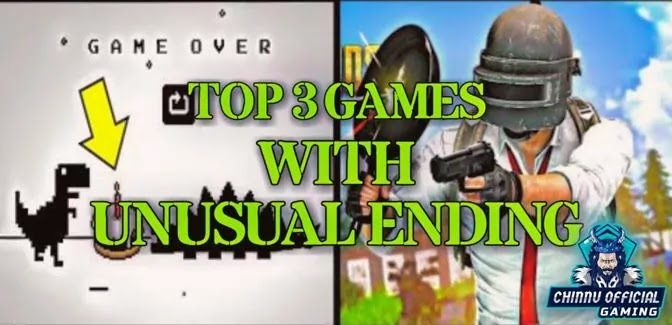Top 3 Games with Unusual Endings | Less people have seen The End