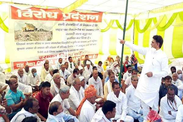 lalit-nagar-protest-against-dumping-yard-in-greater-faridabad-news