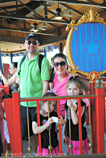 Family Photo at Disney's Dumbo Ride, Serenity Now blog